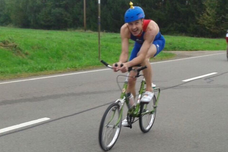 Berthold Triathlon mit Klapprad