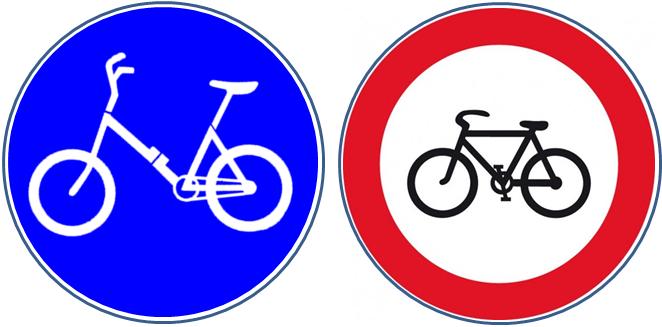 Klappradweg Fahrrad verboten